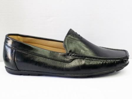 Pantofi barbati negri, piele ecologica, cu talpa comfortabila.