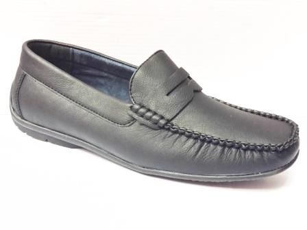 Pantofi barbati negri, cu talpa comfortabila si flexibila.