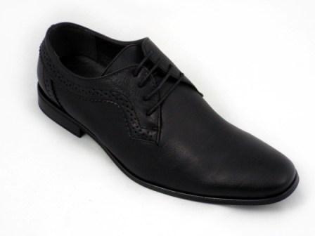 Pantofi barbati negri, cu talpa comfortabila.