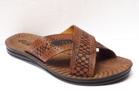 Papuci barbati maro, cu talpa elastica ergonomica