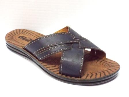 Papuci barbati bleumarin cu talpa elastica ergonomica