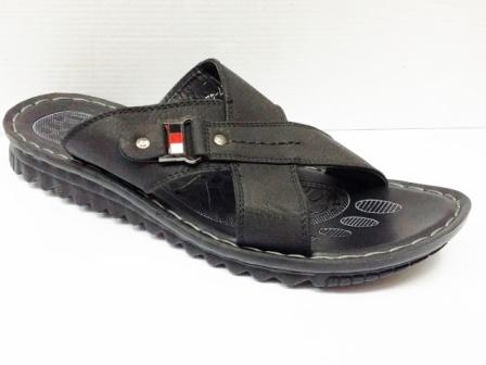 Papuci barbati negri, talpa elastica ergonomica