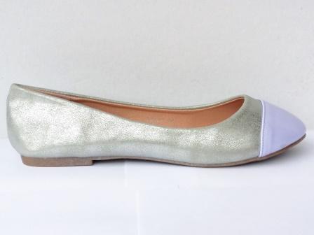 Balerini dama argintii cu varf mov