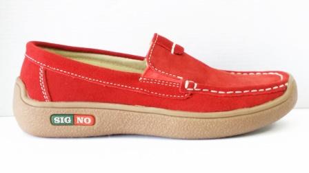 Pantofi femei Synia rosii din piele naturala
