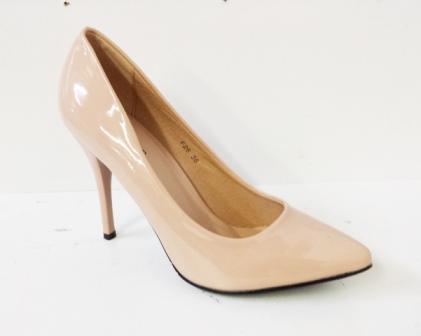 Pantofi dama bej, stiletto, toc de 9 cm,eleganti