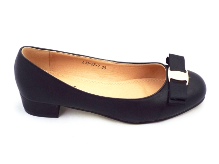 Pantofi dama negri eleganti cu toc de inaltime mica