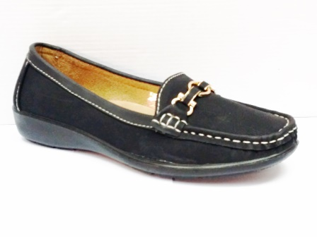 Pantofi dama negri cu accesoriu metalic frontal
