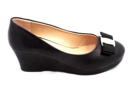 Pantofi dama negri eleganti cu talpa ortopedica