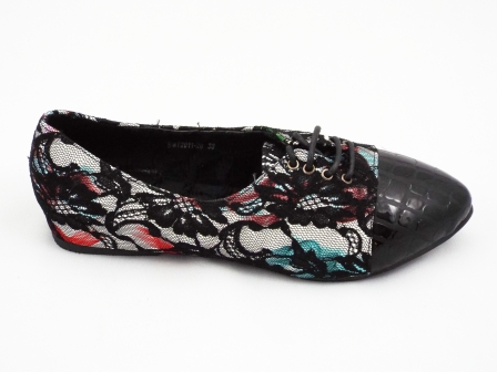 Pantofi dama negri cu material exterior in culori pastel eleganti