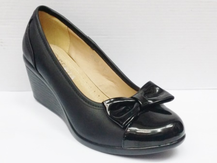 Pantofi dama negri eleganti cu talpa ortopedica si varf lacuit