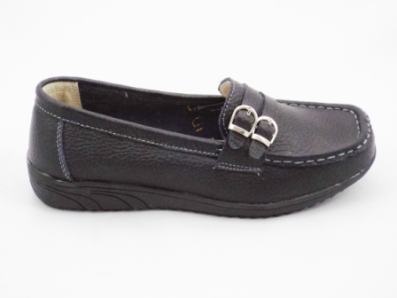 Pantofi dama negri, piele interior/exterior, cu talpa comfortabila