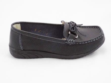 Pantofi dama negri, piele naturala romaneasca