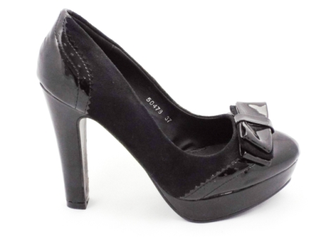 Pantofi dama negri, cu toc inalt.