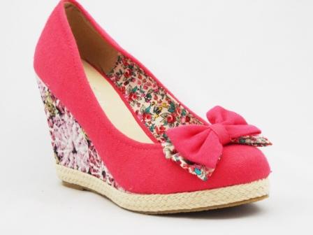 Pantofi dama roz , eleganti, cu talpa ortopedica si accesoriu tip fundita