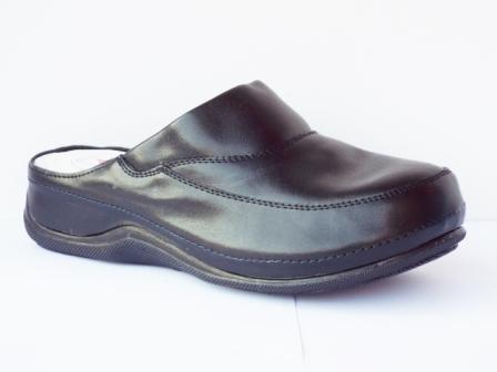 Papuci dama negri, talpa ortopedica, interior din piele