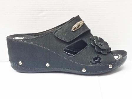 Papuci dama negri, cu talpa ortopedica