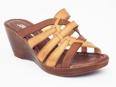 Papuci dama maro cu bej, cu talpa ortopedica