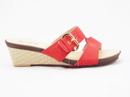 Papuci dama rosii, ortopedici, toc 5 cm