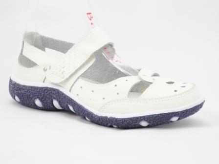 Sandale dama albe, din piele, cu talpa sport