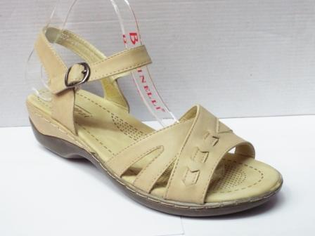 Sandale dama bej , toc de 3 cm, ortopedice