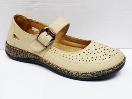 Sandale dama bej perforate, cu talpa deosebit de comoda
