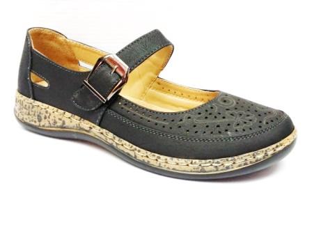 Sandale dama negre perforate, cu talpa deosebit de comoda