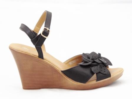 Sandale dama negre, comode, ortopedice