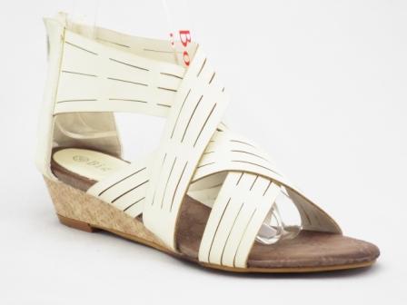 Sandale dama albe cu catarama si talpa ortopedica