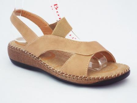 Sandale dama beige cu talpa ortopedica