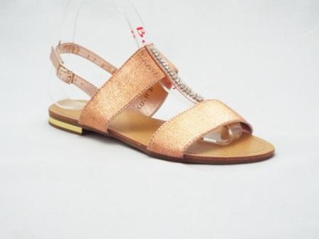 Sandale dama aurii, cu accesoriu strasuri