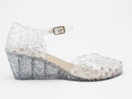 Sandale dama argintii din silicon, ortopedice