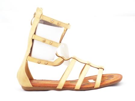 Sandale dama bej, tip romane