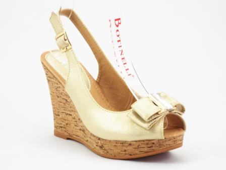 Sandale dama bej auriu cu talpa ortopedica