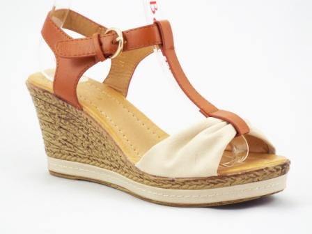 Sandale dama maro cu talpa ortopedica si insertii de bej
