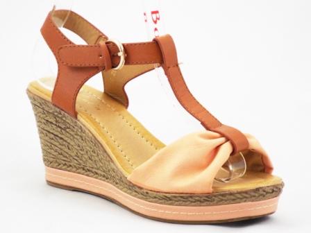 Sandale dama maro cu talpa ortopedica si insertii de roz