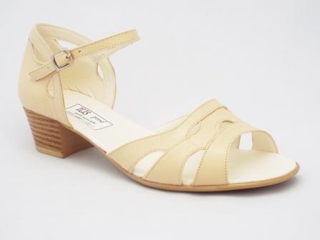 Sandale dama bej, piele naturala, talpa de inaltime medie