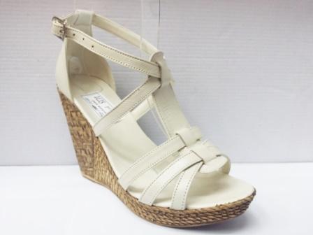 Sandale dama bej, piele naturala, talpa ortopedica image0