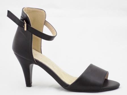 Sandale dama negre, elegante,cu toc de 5 cm