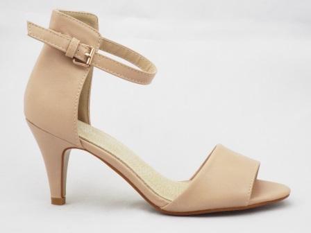 Sandale dama bej, elegante,cu toc de 5 cm