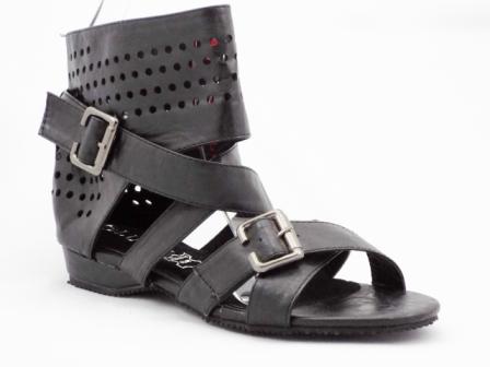 Sandale dama negre cu catarama