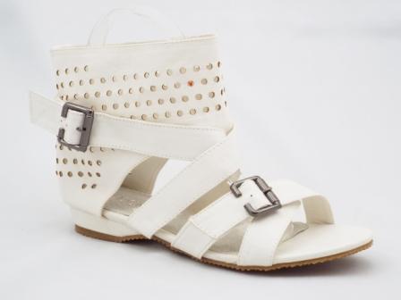 Sandale dama albe cu catarama