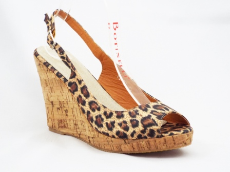 Sandale dama maro, model leopard, talpa ortopedica