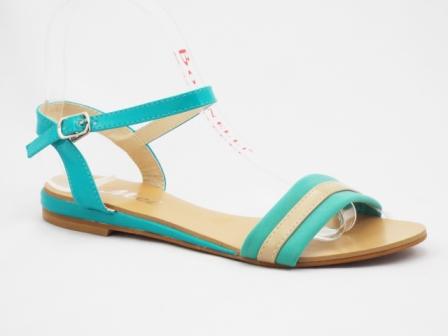 Sandale dama verzi cu bej, foarte elegante