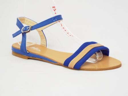 Sandale dama albastre cu bej