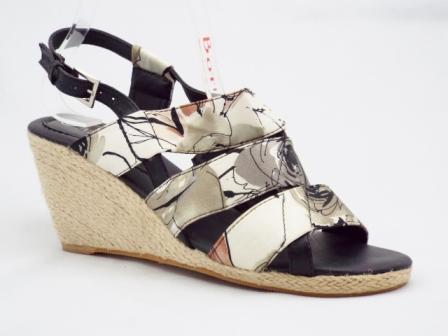 Sandale Dama Gri Cu Negru   Ortopedice