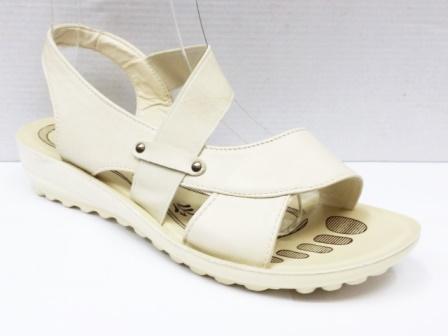 Sandale dama bej deschis, cu bareta elastica
