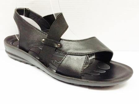 Sandale dama negre, cu bareta elastica