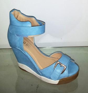 Sandale dama albastre cu platforma