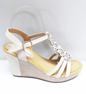 Sandale dama albe, ortopedice, cu accesorii argintii