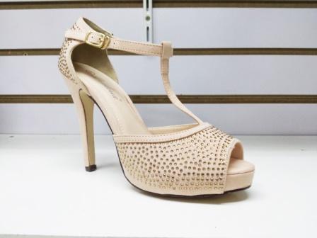 Sandale dama bej, cu toc de 9 cm, elegante